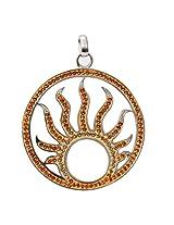 Affra FashionwareSterling silver swarovski crystals sunrise pendant