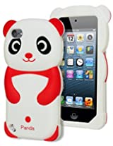 Bastex 3d Panda Bear Silicone Case for Apple Ipod Touch 5, 5th Generation - Red and White