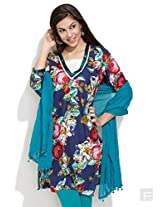 Digital Floral Prints Kurta -Multi Colour-S