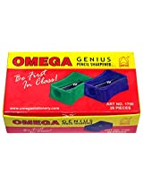 Omega Pencil Sharpener (Pack of 20), 12 cms x 8 cms x 4 cms