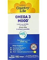 Country Life Omega 3 Mood, 180-Softgels