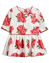 Beebay Infant-girl Rose Print Dress (D0714211110628_Off-White_3-4Y)