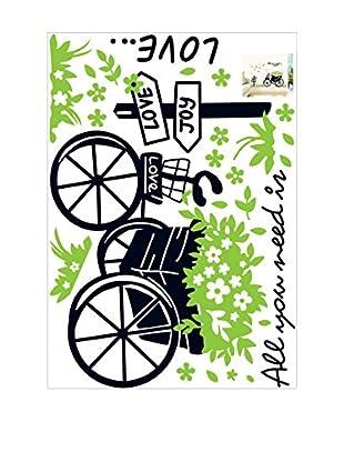Ambiance Live Wandtattoo Love and Bike mehrfarbig