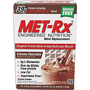 MET-Rx Original Meal Replacement - 18 Packets (Extreme Choclate)