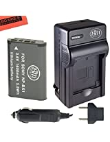 NP-BX1 Battery And Charger Kit For Sony CyberShot DSC-RX1 DSC-RX1R DSC-RX100 DSC-RX100M II DSC-RX100 III DSC-H300 DSC-H400 DSC-HX300 DSC-HX50V DSC-WX300 DSC-WX350 HDR-AS10 HDR-AS15 HDR-AS30V HDR-AS100V HDR-AS100VR HDR-CX240 HDR-PJ275 HDR-MV1 Digital Camer