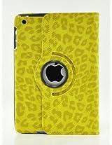 iPad Air 2 Case, LiViTech(TM) Leopard Air 2 Design Series 360 Degree Rotating PU Leather Case Cover for Apple iPad Air 2 (Yellow)