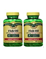 Spring Valley - Fish Oil 1200 mg, Strength, Enteric Coated, 200 Softgels