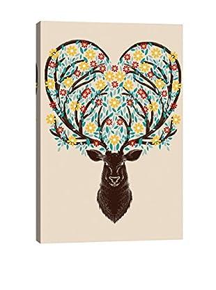 Tobias Fonseca Blooming Deer Canvas Print