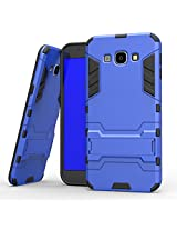 For Galaxy J7 Case Cover {Blue} Shock-Absorption with Kickstand Hybrid Dual Layer SLiM Armor Defender Full Body Protective Back Case Cover for Samsung Galaxy J7 J700 Back Cover Case