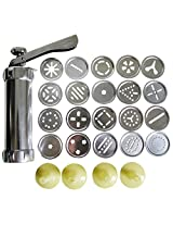 PNBB 1 Set of Aluminum Alloy Cookie Press with 20 Disks and 4 Icing Tips