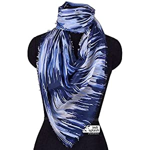 Indisplash Fashion Brush strokes Scarf