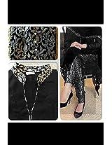 Shree Fashion Woman's Georgette With Dupatta [Shree (2) Black_Black]