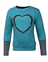 Gron Stockholm Girls' Top (GW-0439_Turquoise_9-10 Years)