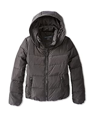 French Connection Women's Hooded Down Jacket (Black)