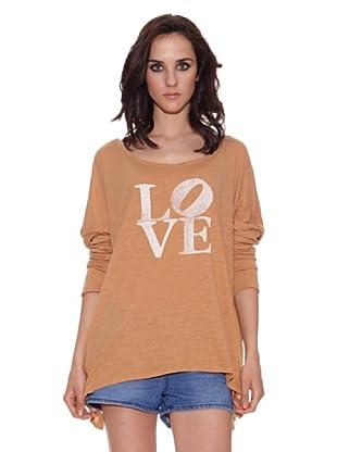 The Hip Tee Camiseta Love flamé (Teja)