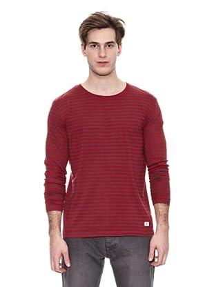 Springfield Camiseta Ba Ml Raya Básica (Rojo / Gris)