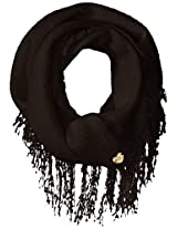 Betsey Johnson Women's Knit Fuzzy Brushed Infinity Scarf