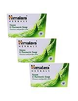 Himalaya Herbals Neem & Turmeric Soap (125g) (Pack of 3)