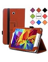 WAWO Creative Folio Cover Case for Samsung Galaxy Tab 4 7.0 Inch Tablet - Brown
