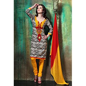 Beautiful Embroidered Cotton Churidar Suit