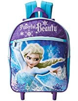 Disney Girl's Frozen Elsa Rolling Backpack