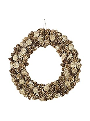 Sage & Co. Large Pine Cone Jewel Glittered Wreath