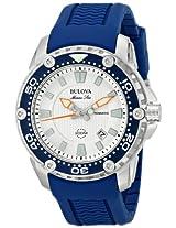 Bulova Marine Star Analog Silver Dial Men's Watch - 98B208