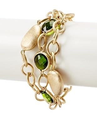 Rivka Friedman Peridot Crystal Toggle Bracelet