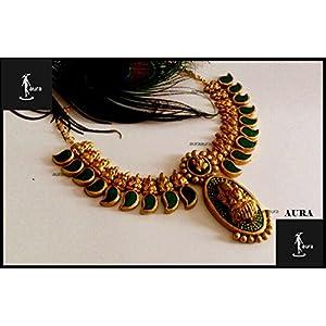 AUrA-EArTH Lakshmi Sukanya In Palakka Necklace