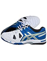 Asics Gel-Game 5 Tennis Shoes (BLUE/SILVER/FLASH YELLOW)