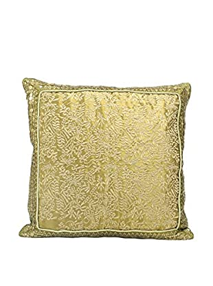 John Richards Collection Metallic Gold Square Pillow