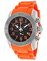 Commander Titanium Orange Silicone Black Dial Orange Accents (11876-Ti-01-Oas)