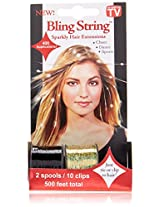 Mia Bling String Hologram Hair Extensions, Purple, 1.44 Ounce