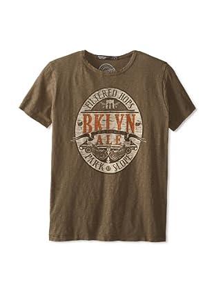 Brooklyn Motors Men's Ale Crew Neck T-Shirt (Dirty Olive)