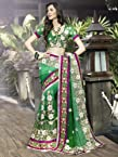 Green Viscos Embroidery Designer Saree: Wsv1588