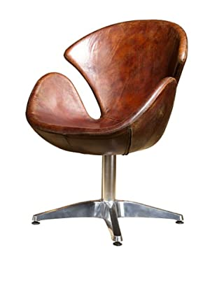 CDI Vintage Leather Wilson Coupe Chair, Brown