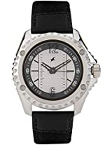 3063Sl01 Black / White Analog Watch Fastrack