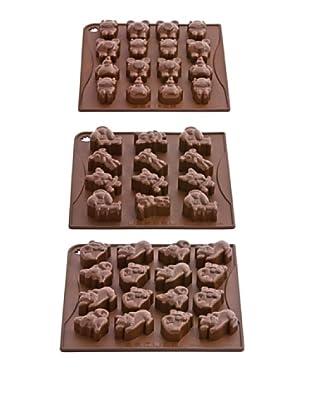Pavoni Set 3 Moldes Para Chocolatinas