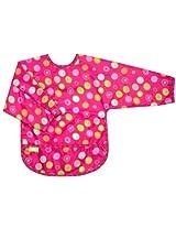 Kushies Waterproof Bib With Sleeves, Pink Circle, Infant By Kushies
