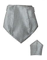 Steel Grey Cravat with Pocket Square