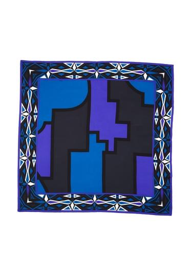Emilio Pucci Women's Geometric Square Scarf (Blue)