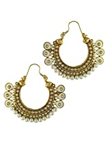 Ethnic Indian Bollywood Jewelry Set Traditional Fashion Imitation EarringsCHEA0215WH