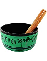 Brahmz Singing Bowl - Aluminium - 14 - 7 Inch - Brown Green