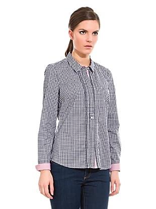 Cortefiel Camisa Preppy Cuadro (Azul Marino)