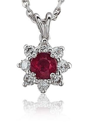 Divas Diamond Collar Diamante Rubí