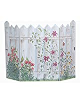 The Stupell Home Decor Collection 3 Panel Decorative Fireplace Screen, Picket Fence, 45 by 31 by 0.5-Inch
