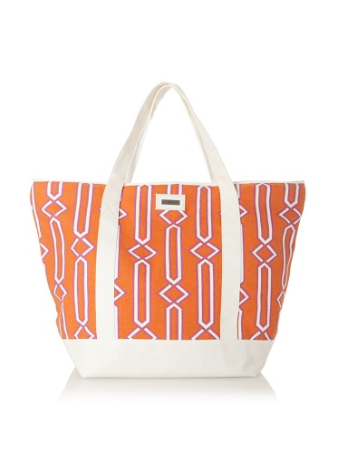 Julie Brown Medium Tote Bag with Cooler Lining (Jenjule/Cherry Tree)