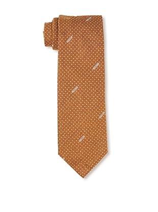 Moschino Men's Polka Dot Tie, Orange