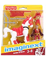 Fisher Price Imaginext Archer And Horse - red And White