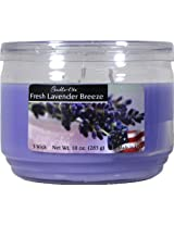 Candle-lite Essentials 3-Wick 10-Ounce Terrace Jar Candle, Fresh Lavender Breeze
